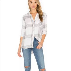 Rails Hunter Plaid Shirt Button White/Sterling